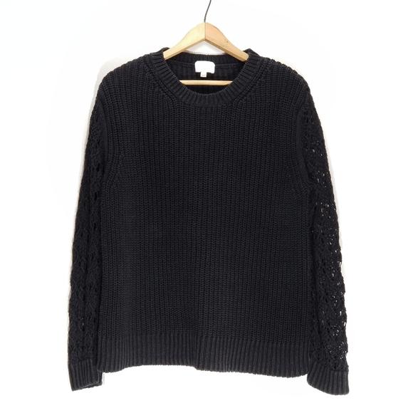 Wilfred | Linen Blend Open Knit Sleeve Sweater